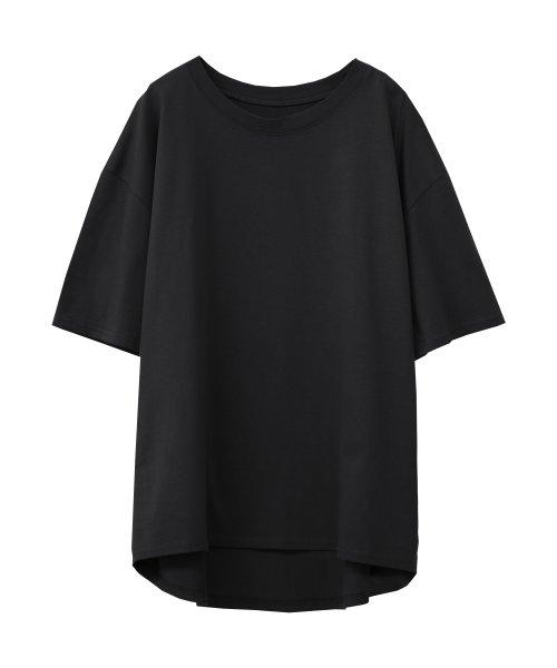 SocialGIRL(ソーシャルガール)/シンプルベーシックコットンUネックTシャツ/509-90_img13