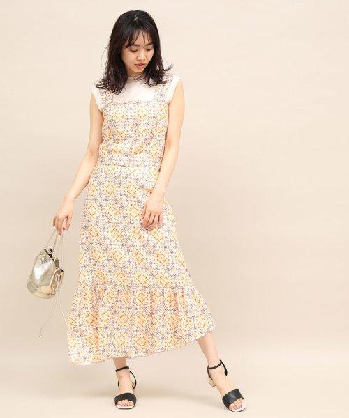 ROPE' mademoiselle(ロペ マドモアゼル)/【セットアップ対応】モザイクパターンアシメスカート/GWC49130_img08