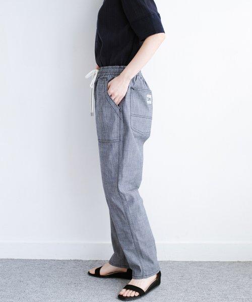 haco!(ハコ)/Lady Lee シャンブレー素材のらくちんイージーパンツ/469380_img04