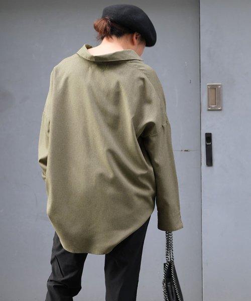 ANDJ(ANDJ(アンドジェイ))/リネン風BIGポケットオーバーサイズシャツ/tb79c04260_img09