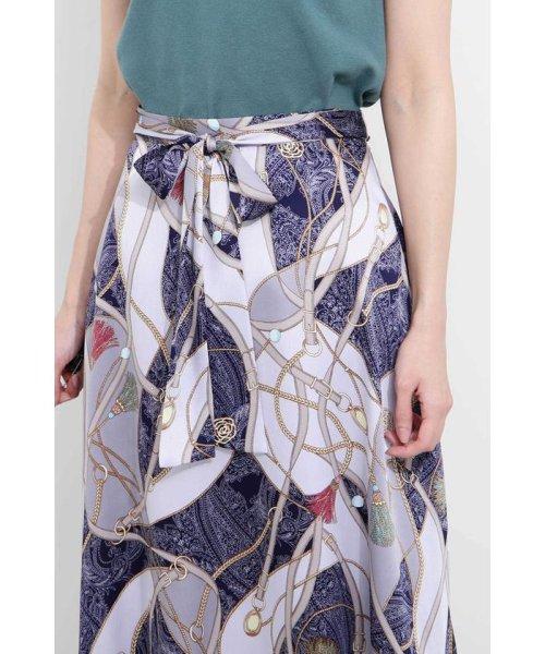 PROPORTION BODY DRESSING(プロポーション ボディドレッシング)/スカーフプリントイレヘムスカート/1219120906_img09