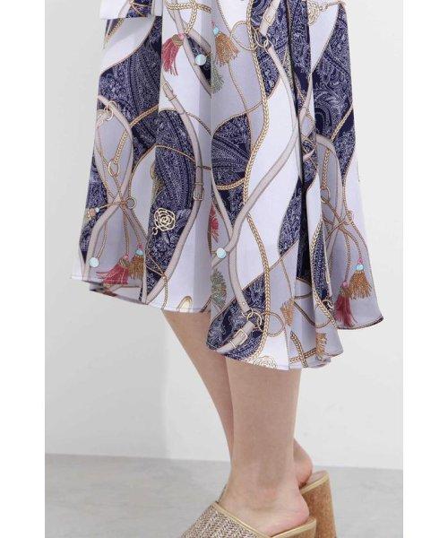 PROPORTION BODY DRESSING(プロポーション ボディドレッシング)/スカーフプリントイレヘムスカート/1219120906_img10