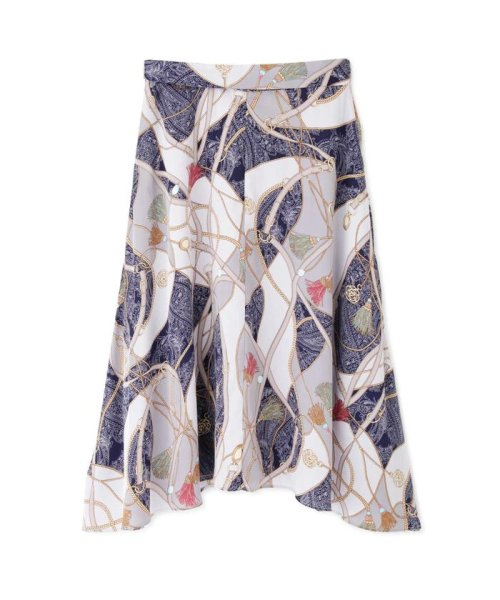 PROPORTION BODY DRESSING(プロポーション ボディドレッシング)/スカーフプリントイレヘムスカート/1219120906_img11