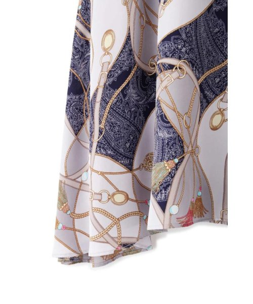 PROPORTION BODY DRESSING(プロポーション ボディドレッシング)/スカーフプリントイレヘムスカート/1219120906_img14