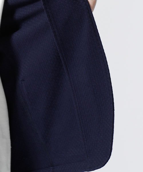 nano・universe(ナノ・ユニバース)/リンクスジャガード着流しジャケット/6689116020_img02
