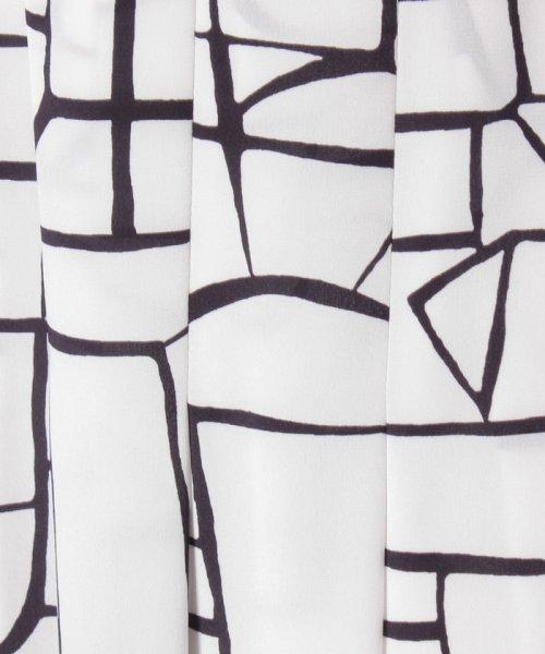 LAPINE BLANCHE(ラピーヌ ブランシュ)/【セットアップ対応】シルキーデシン 幾何柄プリントスカート/159112_img05
