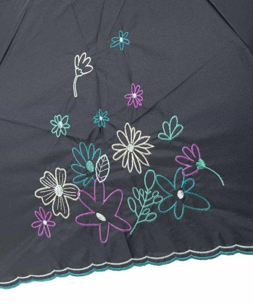 Jocomomola(ホコモモラ)/【晴雨兼用】フラワー刺繍折りたたみ傘/GG8FG04085_img02
