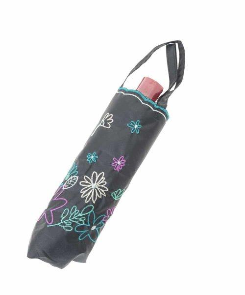 Jocomomola(ホコモモラ)/【晴雨兼用】フラワー刺繍折りたたみ傘/GG8FG04085_img08
