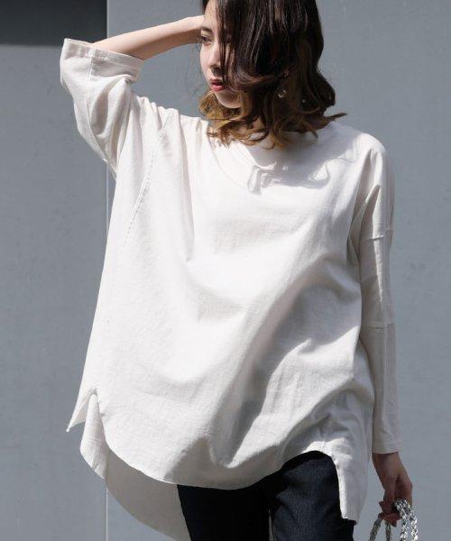 ANDJ(ANDJ(アンドジェイ))/ビッグシルエット変形Tシャツ /tt75x04276_img07