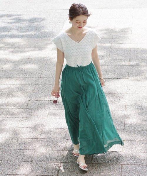 IENA(イエナ)/《予約》コットンボイルギャザーパネルスカート◆/19060900900020_img10