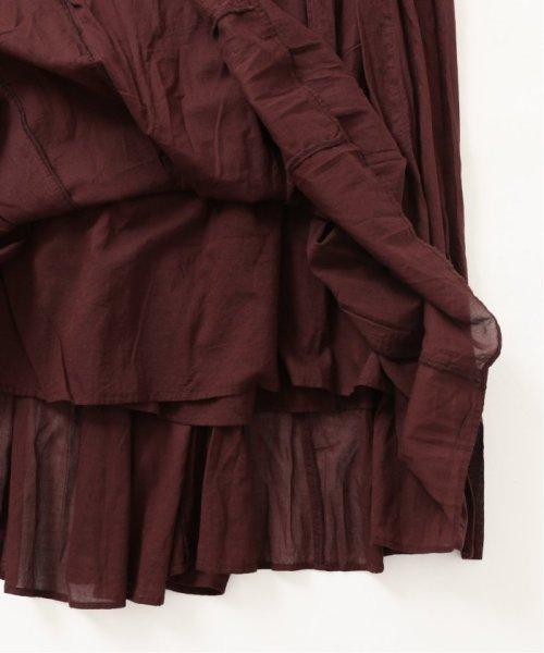 IENA(イエナ)/《予約》コットンボイルギャザーパネルスカート◆/19060900900020_img18