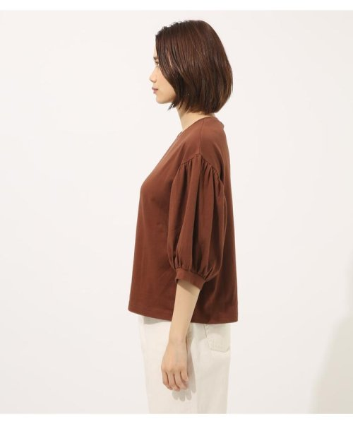 AZUL by moussy(アズールバイマウジー)/Volume sleeve cut top/250CSA80-464D_img20