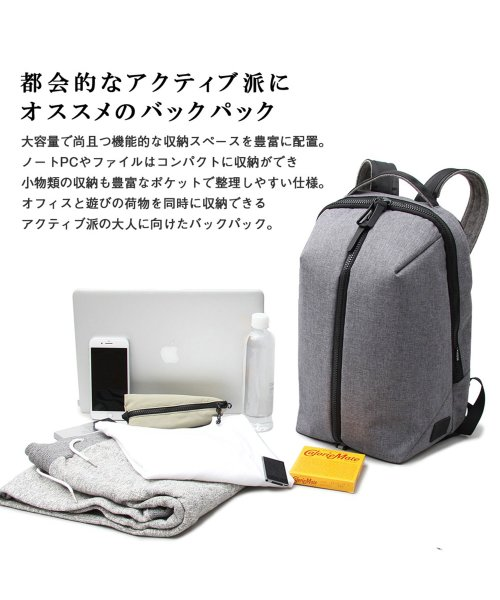 REGiSTA(レジスタ)/へザーナイロンフロントジップバックパック/597_img01