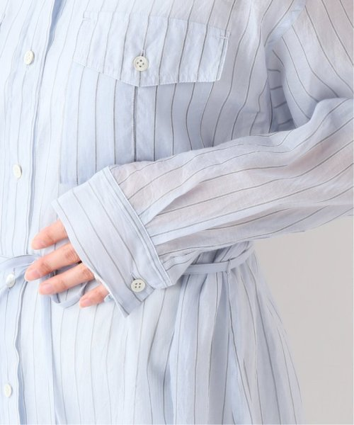 SLOBE IENA(スローブ イエナ)/シルク混ストライプロングシャツワンピース◆/19040912711010_img11