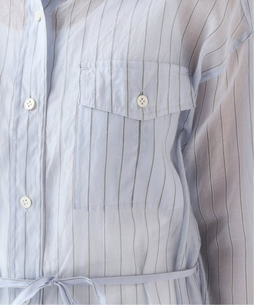 SLOBE IENA(スローブ イエナ)/シルク混ストライプロングシャツワンピース◆/19040912711010_img12