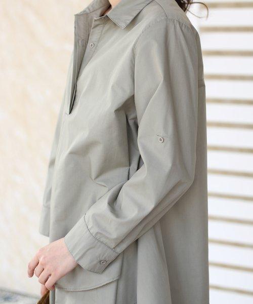 Bou Jeloud(ブージュルード)/裾フレア◆レイヤードシャツチュニック/691089_img12