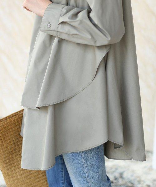 Bou Jeloud(ブージュルード)/裾フレア◆レイヤードシャツチュニック/691089_img13