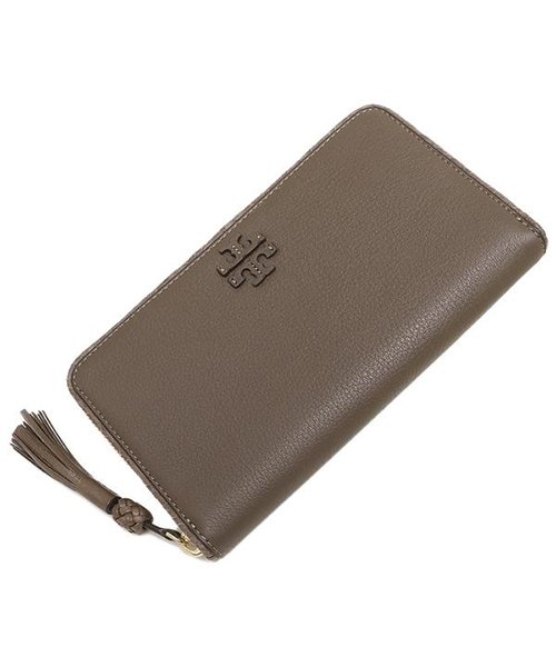 TORY BURCH(トリーバーチ)/TORY BURCH 52721 963 TAYLOR ZIP CONTINENTAL WALLET レディース 長財布 無地 SILVER MAPLE/tof52721963_img03
