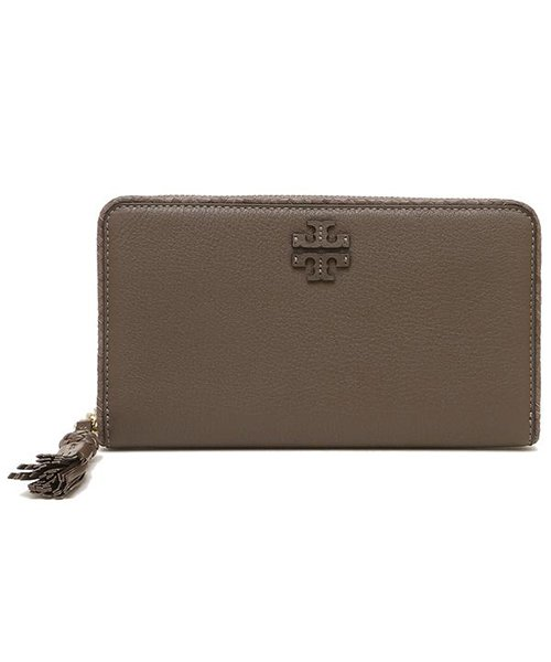 TORY BURCH(トリーバーチ)/TORY BURCH 52721 963 TAYLOR ZIP CONTINENTAL WALLET レディース 長財布 無地 SILVER MAPLE/tof52721963_img04