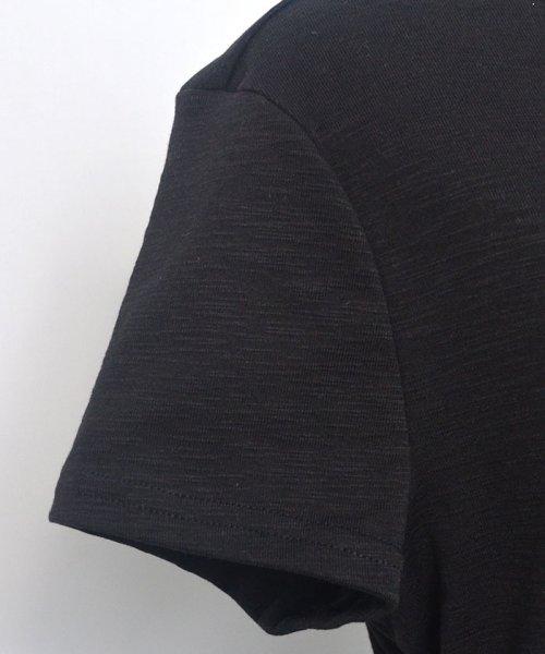 ANDJ(ANDJ(アンドジェイ))/ヘンリーネックポケット付き天竺Tシャツ/ts00x04300_img24