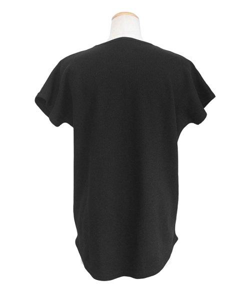 ANDJ(ANDJ(アンドジェイ))/フレンチスリーブワッフルポケットTシャツ/ts75x04279_img19