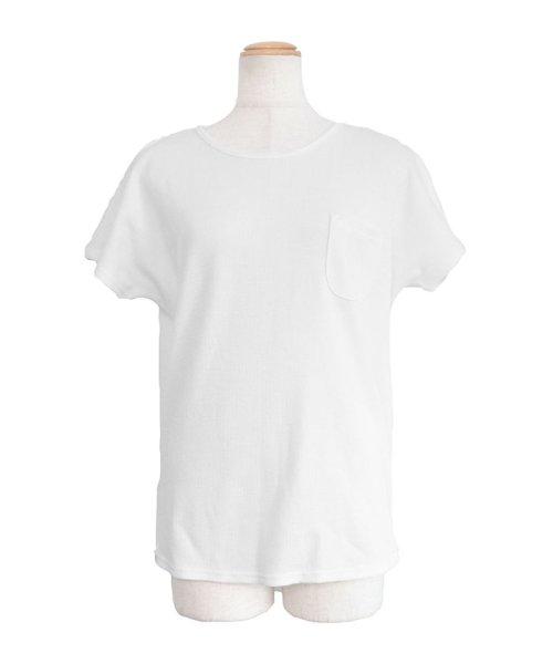 ANDJ(ANDJ(アンドジェイ))/フレンチスリーブワッフルポケットTシャツ/ts75x04279_img21