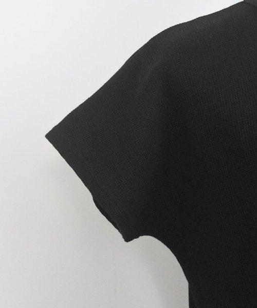 ANDJ(ANDJ(アンドジェイ))/フレンチスリーブワッフルポケットTシャツ/ts75x04279_img24