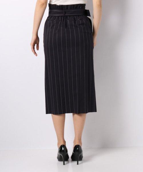 JOCONDE ROYAL(ジョコンダ ロイヤル)/ストライプロングタイトスカート(共布ベルト付き)/099398_img02