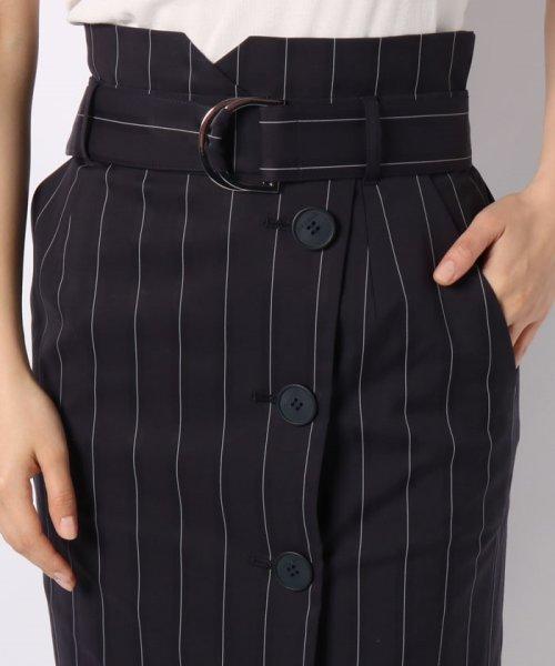 JOCONDE ROYAL(ジョコンダ ロイヤル)/ストライプロングタイトスカート(共布ベルト付き)/099398_img03