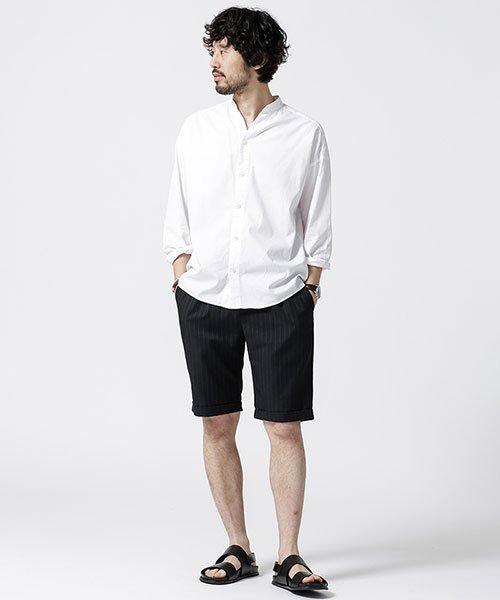 nano・universe(ナノ・ユニバース)/大人のワイドシャツ バンドカラー/6689120048_img01