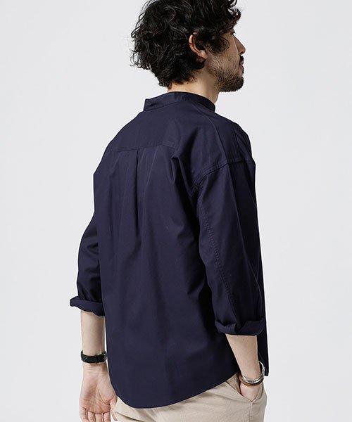 nano・universe(ナノ・ユニバース)/大人のワイドシャツ バンドカラー/6689120048_img04