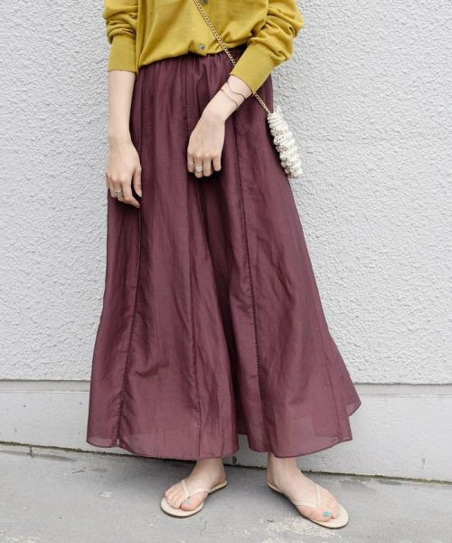 SHIPS WOMEN(シップス ウィメン)/【手洗い可能】コットンシルクギャザースカート ◇/313221850_img08