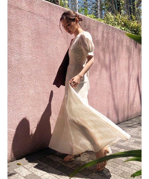 FRAY I.D(フレイ アイディー)/アイレット刺繍ドレス/FWFO192602_img01