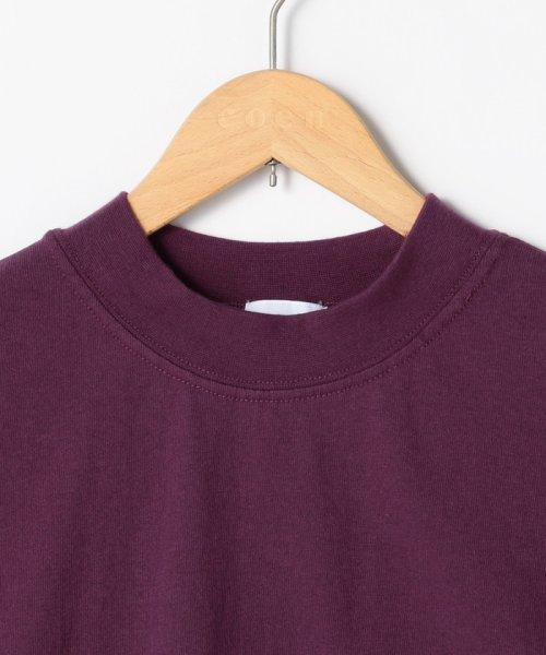 coen(コーエン)/【WEB限定カラーに新色ブラウン登場】USAコットンハイネックTシャツ/76256009019_img25