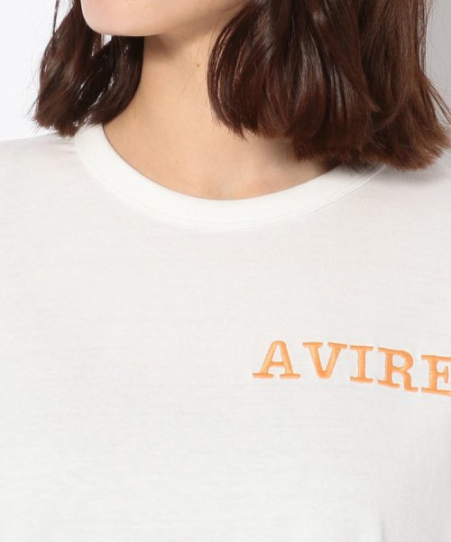 AVIREX(アヴィレックス)/ハーフスリーブ フレアーエンブロイダリートップス/HEM FRALE EMBROIDERY TOPS/4002191004-50_img03
