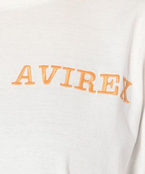 AVIREX(アヴィレックス)/ハーフスリーブ フレアーエンブロイダリートップス/HEM FRALE EMBROIDERY TOPS/4002191004-50_img05