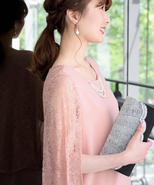 Eimy Peral(エイミーパール(ドレス))/肩かけ風レースドレス/4747_img04