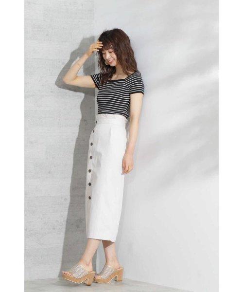 PROPORTION BODY DRESSING(プロポーション ボディドレッシング)/《EDIT COLOGNE》フロントボタンロングタイトスカート/1219127502_img02