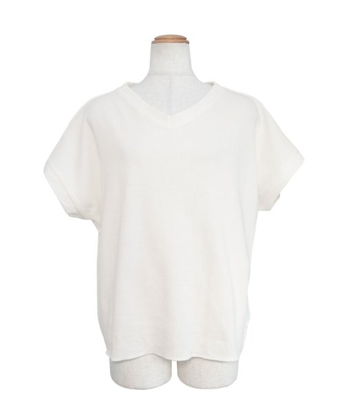ANDJ(ANDJ(アンドジェイ))/背中タックヘムラインワッフルTシャツ/ts75x04278_img14