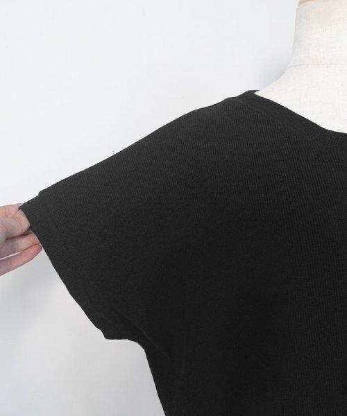 ANDJ(ANDJ(アンドジェイ))/背中タックヘムラインワッフルTシャツ/ts75x04278_img18