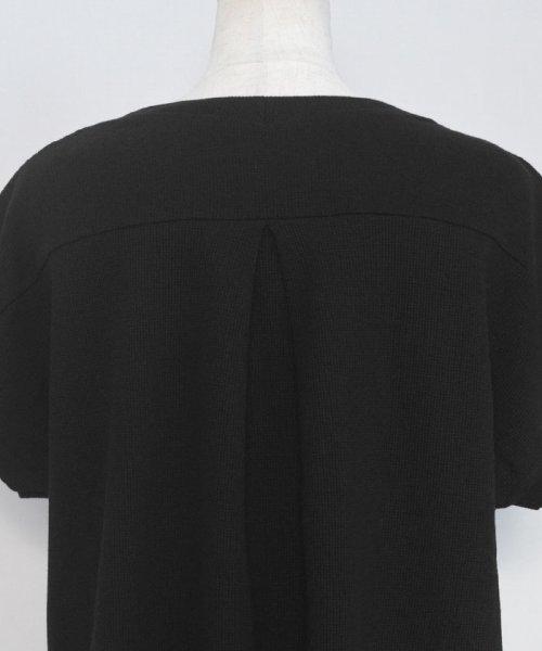 ANDJ(ANDJ(アンドジェイ))/背中タックヘムラインワッフルTシャツ/ts75x04278_img20