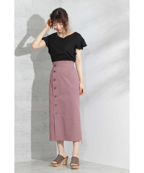PROPORTION BODY DRESSING(プロポーション ボディドレッシング)/《EDIT COLOGNE》フロントボタンロングタイトスカート/1219127502_img10
