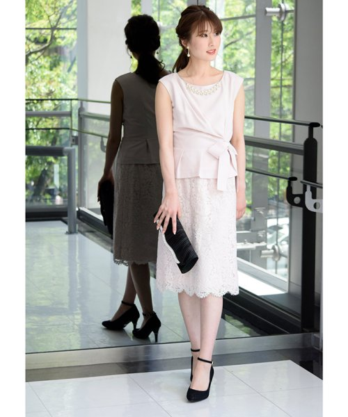 Eimy Peral(エイミーパール(ドレス))/トップス+スカートセットアップドレス/BO319_img01