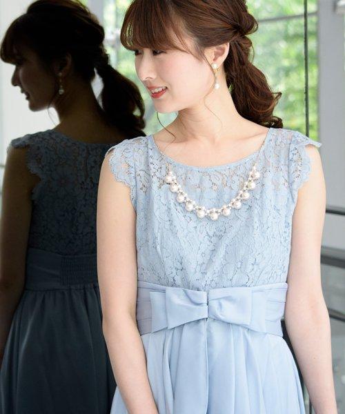 Eimy Peral(エイミーパール(ドレス))/パールネックレス付きドレス/24449_img01
