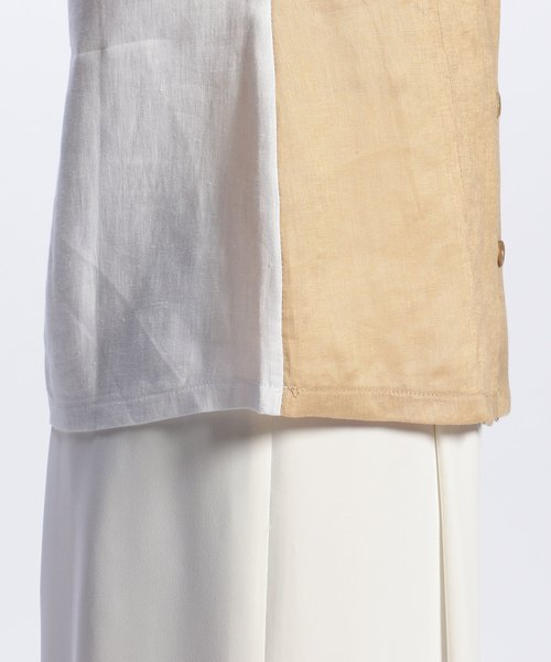 NARA CAMICIE(ナラカミーチェ)/フラワー刺繍ノーカラー七分袖ブラウス/109102268_img09