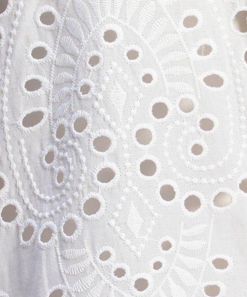 NARA CAMICIE(ナラカミーチェ)/スカラップエンブロイダリーレース半袖シャツ/109104036_img04