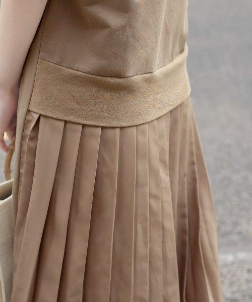 Bou Jeloud(ブージュルード)/バックスタイルが可愛い!◆スウェット後ろプリーツ半袖ワンピース/692996_img19