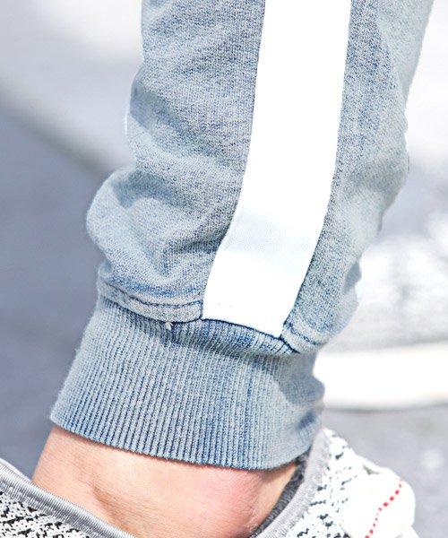 LUXSTYLE(ラグスタイル)/インディゴ裏毛カットデニムライン入りリブジョガーパンツ/ジョガーパンツ メンズ カットデニム ライン/pm-8289_img07