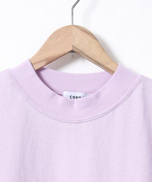 coen(コーエン)/【WEB限定カラーに新色ブラウン登場】USAコットンハイネックTシャツ/76256009019_img37