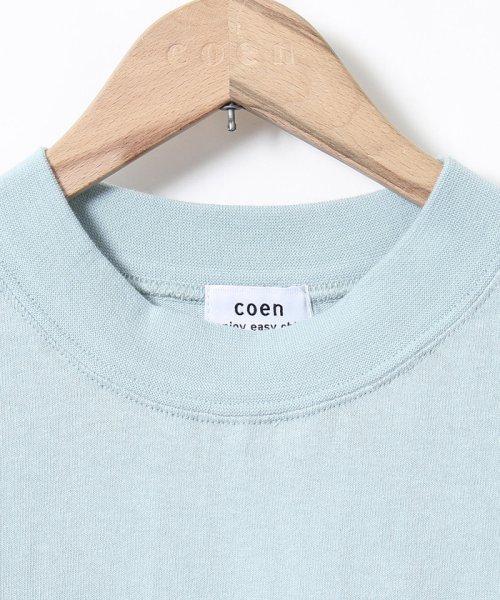 coen(コーエン)/【WEB限定カラーに新色ブラウン登場】USAコットンハイネックTシャツ/76256009019_img39